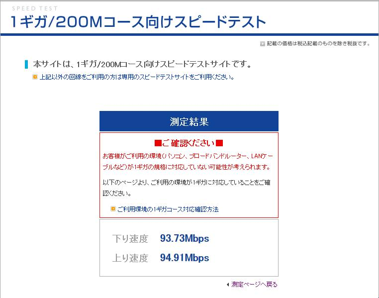 Eo 光 スピード テスト